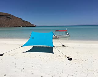 Neso Tents Beach Tent with Sand Anchor, Portable Canopy Sunshade - 2.1 x 2.1m - Patented Reinforced Corners