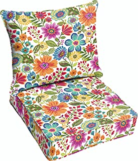 Humble and Haute Galliford Multi Floral Indoor/Outdoor Chair Corded Cushion and Pillow Set