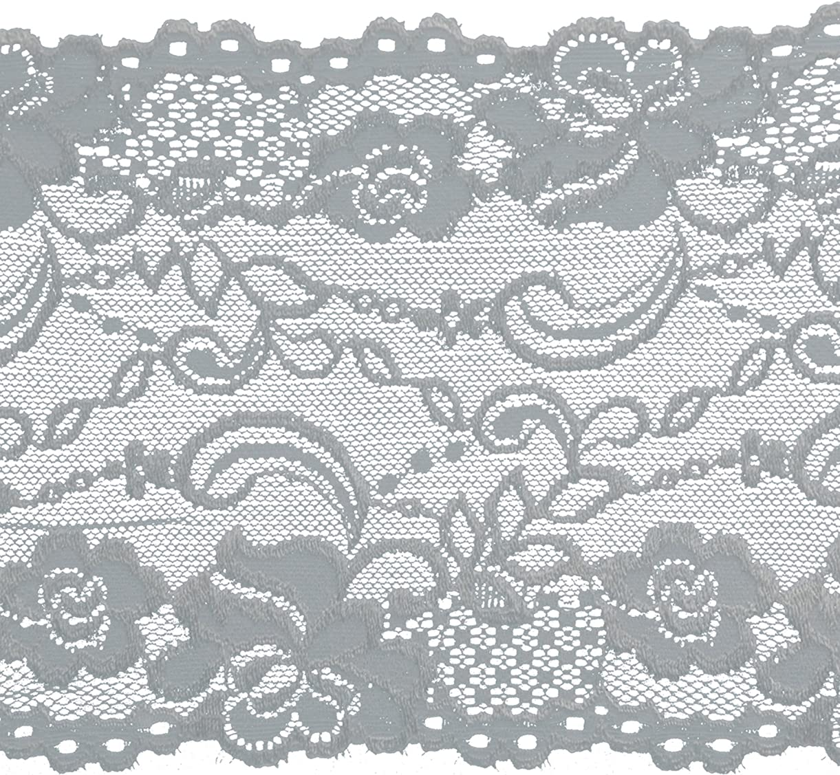 Decorative Trimmings Oyster Stretch Galloon Lace Trim 6-1/8