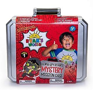 Ryan's World Secret Agent Mystery Mission Case, Spy Case, 3 Exclusive Spy Figures, 2 Wrist Communicators, Flashlight, Gogg...