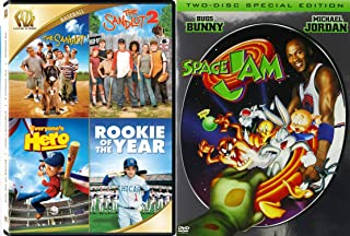 Family Sports sandlot SPACE JAM + Rookie of The Year, Everyones Hero Movies Sandlot 2 Space Jam 2 Disc Special Edition DVD