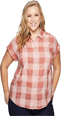 Lucky Brand - Plus Size Plaid Short Sleeve Top