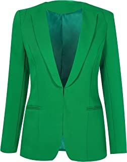 SHUIANGRAN Womens Slim Fit Casual Work Office Blazers One Button Jacket