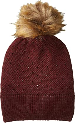 LAUREN Ralph Lauren - Birdseye Metallic and Beaded Beanie