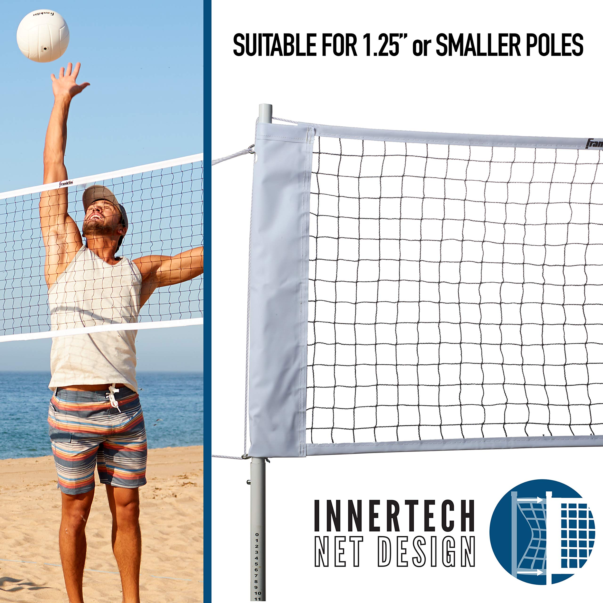 Franklin Sports Volleyball And Badminton Replacement Net Fits 1 25 Inch Poles Amazon Sg Sports Fitness Outdoors