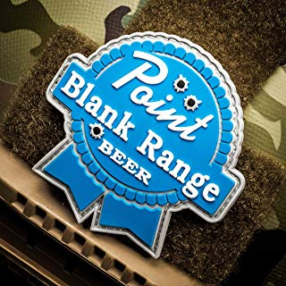 NEO Tactical Gear Point Blank Range Beer - PVC Morale Patch, Hook Backed Morale Patch