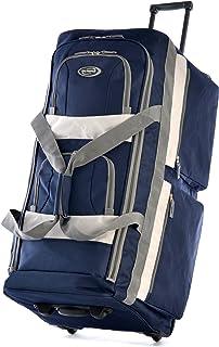 Olympia 8 Pocket Rolling Duffel Bag, Navy, 33 inch