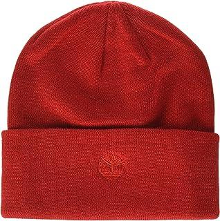قبعة Timberland Mens CUFFED BEANIE مع شعار مطرز في الطقس البارد