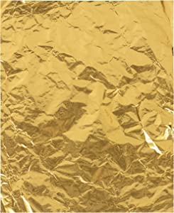Gold Foil Candy Wrappers (6 x 7.5 in, 200-Pack)