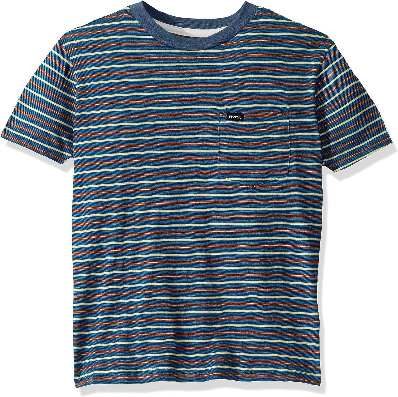 RVCA Boys Big Foz Stripe Crew Neck Shirt
