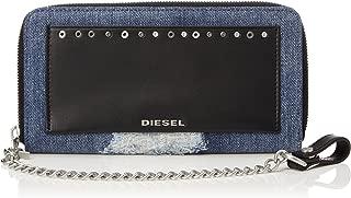 (ディーゼル) DIESEL メンズ チェーン付き ラウンドジップ 長財布 AMUSEDENIM 24 ZIP WITH CHAIN - wallet X05342PS315