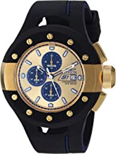 Invicta Men's S1 Rally Quartz Watch with Silicone Strap, Black, 27 (Model: 22438)