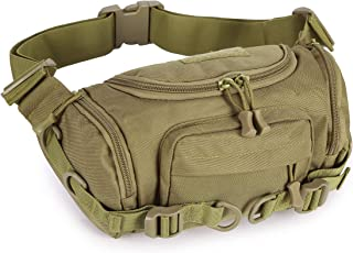 Huntvp Military Fanny Pack Tactical Waist Bag Pack Bumbag Shoulder Bag Crossbody Bag Water-Resistant Hip Belt Bag Pouch