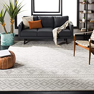 Safavieh Adirondack Collection ADR107B Ivory and Silver Rustic Bohemian Area Rug (6' x 9')