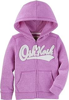 OshKosh B'Gosh Girls' Full Zip Logo Hoodie