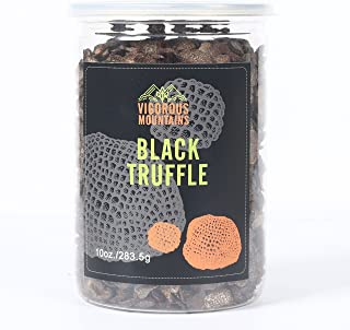VIGOROUS MOUNTAINS Dried Black Truffle Mushrooms Premium Winter Slices Ingredient For Black Truffle Paste Sauce 10 Ounce