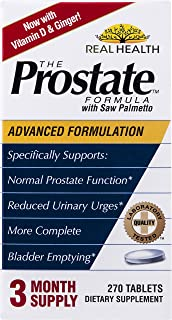 Real Health Laboratories The Prostate Formula with Saw Palmetto, 270 Tablets (packaging may vary)