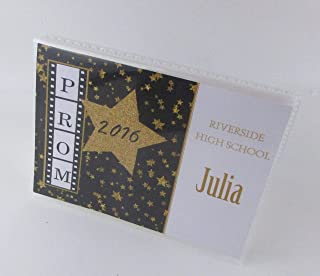 Prom Photo Album 4x6 or 5x7 Pictures Black Gold Star IA#594