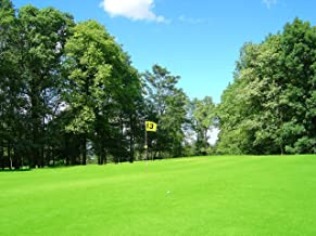 Green Golf Course Photography Background Green Grasses Blue Sky Backdrop for Wedding Birthday Party Backdrop Newborn Themed Party Backdrop 7x5ft E00T9868