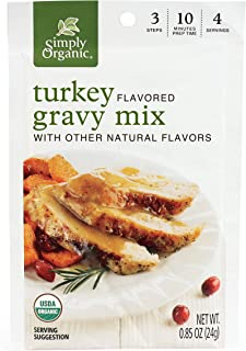 Simply Organic Turkey Flavored Gravy Mix, Certified Organic, 0.85-Ounce Packet (Pack of 12)