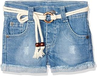 Giggles Fringe Hem Denim Hot Shorts For Girls