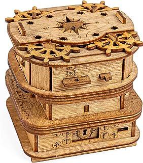 iDventure Kluebox – Davy Jones Locker – Escape Room spel – kniffiga 3D träpussel – unika vitspel – Escape Box spel för vux...