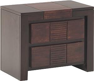 The Jaipur Living Nairobi Bed Side Cabinet (Wenge Finish, Brown)
