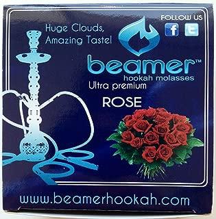Rose Beamer Herbal Hookah Shisha Molasses 50g. Huge Clouds, Amazing Taste! Tobacco Free, Nicotine Free. Better Taste & Clouds than tobacco. Made in USA! Use with Hookah Nargila, charcoal