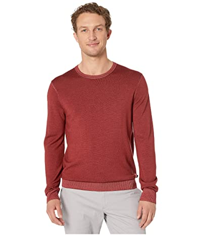 Michael Kors Washed Merino Crew (Field Red) Men