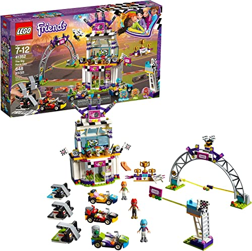 high quality LEGO Friends The Big Race Day 41352 Building Kit, Mini Go Karts and Toy outlet online sale Cars for Girls, Best Gift for Kids online sale (648 Piece) (Discontinued by Manufacturer) online sale