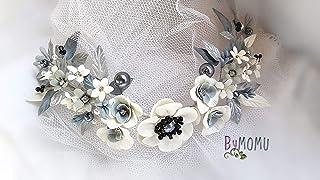 Copricapo da sposa Ornamento fiori Bianchi per capelli-Fiori Porcellana porcellana porcellana fredda accessori per capelli...