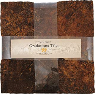 Stonehenge Gradations Iron Ore Stone Tiles 42 10-inch Squares Layer Cake Northcott