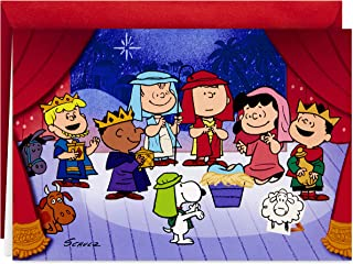 Hallmark Peanuts Christmas Cards, Nativity Pageant (16 Cards and 17 Envelopes)