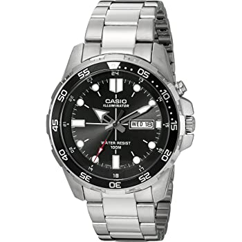 Casio Men's MTD-1079D-1AVCF Super Illuminator Diver Analog Display Quartz Silver Watch