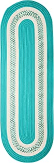 Colonial Mills Crescent NT52R024X120 Rugs, 2' x 10', Teal Green