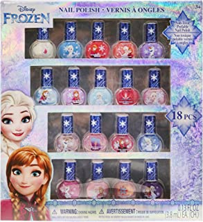 Disney Frozen Best Peel-Off Nail Polish Deluxe Gift Set for Kids, 18 Count Colors, some with Glitter