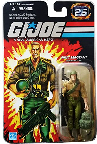GI Joe - 25th Anniversary - Collector Edition - Wave 4 - FIRST SERGEANT - Code Name  DUKE - VERSION 2