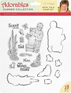 Jayne Nestorenko Die and Stamp Sets - Planting Wishes, Silver, one Size