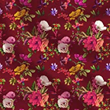 floral cotton fabric for dressmaking