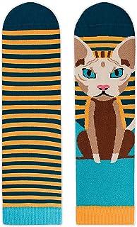 Pirin Hill, Calcetines de algodón para mujer, diseño de animales, multicolor