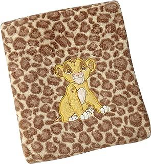 Disney Lion King Urban Jungle Super Soft Coral Fleece Blanket, Tan/Beige