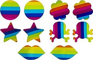 Rainbow Pride (5 Pairs) Disposable Satin Nipple Cover Pasties