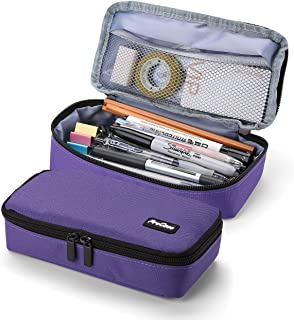 ProCase Pencil Bag Pen Case, Large Capacity Students Stationery Pouch Pencil Holder Desk Organizer with Double Zipper, Por...