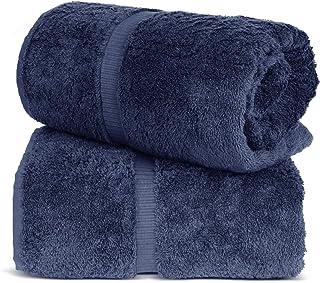 TURKUOISE TURKISH TOWEL % 100 Turkish Cotton Luxury and Super Soft Bath Sheets, 35x70 Inches (Bath Sheet 2PK, Navy)