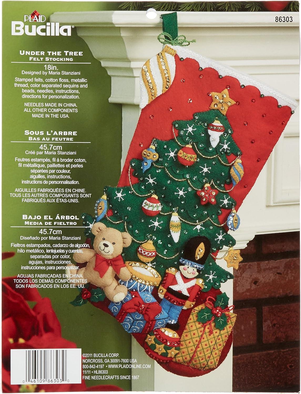 Bucilla 18-Inch Christmas Stocking Felt Unde Ranking TOP13 Popular brand 86303 Kit Applique