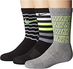 Nike Kids - Performance Cushion Crew 3-Pair Socks (Little Kid/Big Kid)