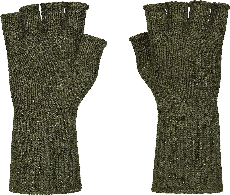 Fingerless Wool Glove Military GI Govt Issue