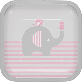 Little Peanut Girl Elephant Dessert Plates, 24 ct