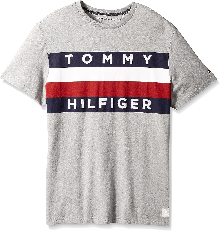 Tommy Hilfiger Men's Big and Tall Flag Logo T Shirt