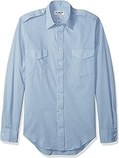 Van Heusen Mens Men's Pilot Dress Shirt Long Sleeve Aviator Dress Shirt